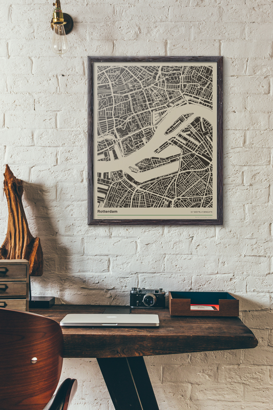 Poster-Rotterdam-plattegrond-koenmeloen