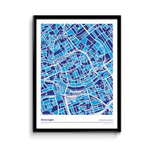 Groningen-kleurt-blauw---Donar-mozaiek-versie-poster-print