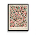 Groningen-mozaiek-poster-print-grijze-roze-tinten-koenmeloen