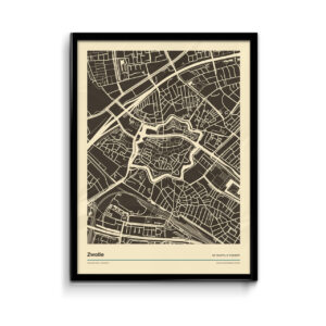 Zwolle--poster-print-zwart-wit-vintage-koenmeloen