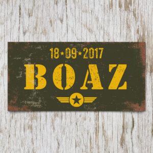 Naambord Kinderkamer Boaz Groen