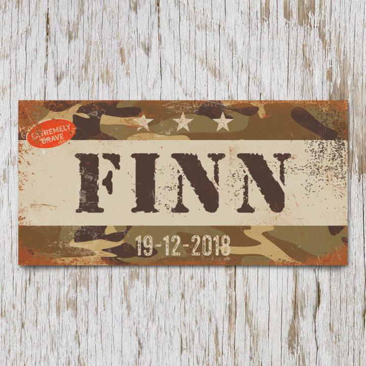 naambord-finn-bruin-bruine-text-leger-army-koenmeloen-