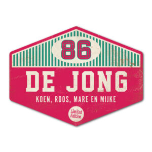 Naambord-de-jong-roze-wit-mint-koenmeloen voordeur