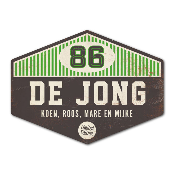 Naambord-de-jong-zwart-wit-groen-koenmeloen voordeur