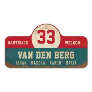 Van-den-Berg-naambord-koenmeloen-blauw-rood-wit rallybord