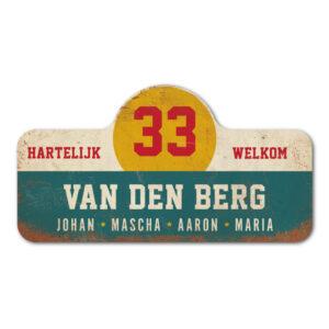 Van-den-Berg-naambord-koenmeloen-blauw-wit-geel-rood rallybord