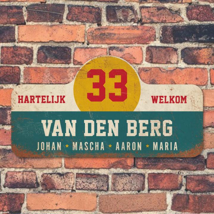 Van-den-Berg-naambord-koenmeloen-blauw-wit-geel-rood-muur rallybord
