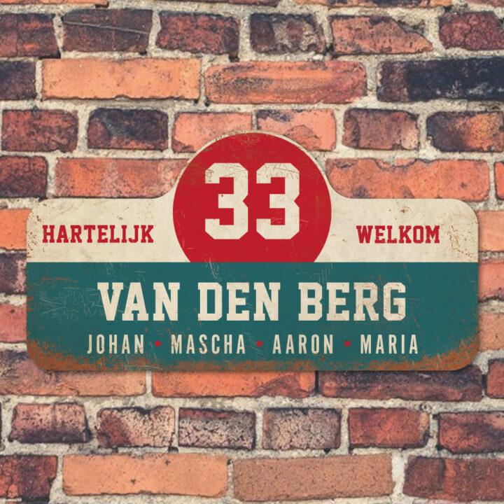 Van-den-Berg-naambord-koenmeloen-blauw-wit-rood-muur rallybord