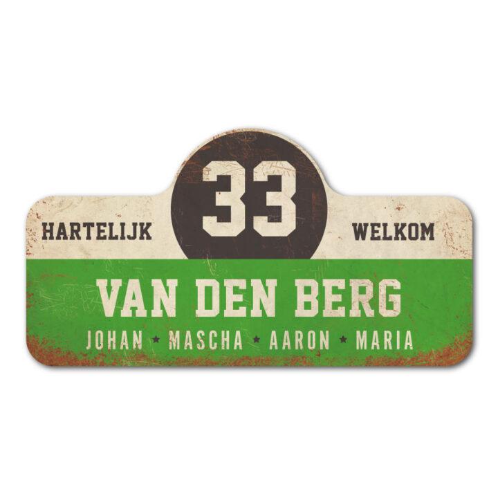 Van-den-Berg-naambord-koenmeloen-groen-wit-zwart rallybord