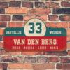 Van-den-Berg-naambord-koenmeloen-rood-blauw-wit-muur rallybord