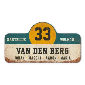 Van-den-Berg-naambord-koenmeloen-wit-blauw-geel-zwart rallybord