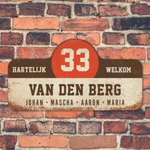 Van-den-Berg-naambord-koenmeloen-wit-bruin-rood-muur rallybord