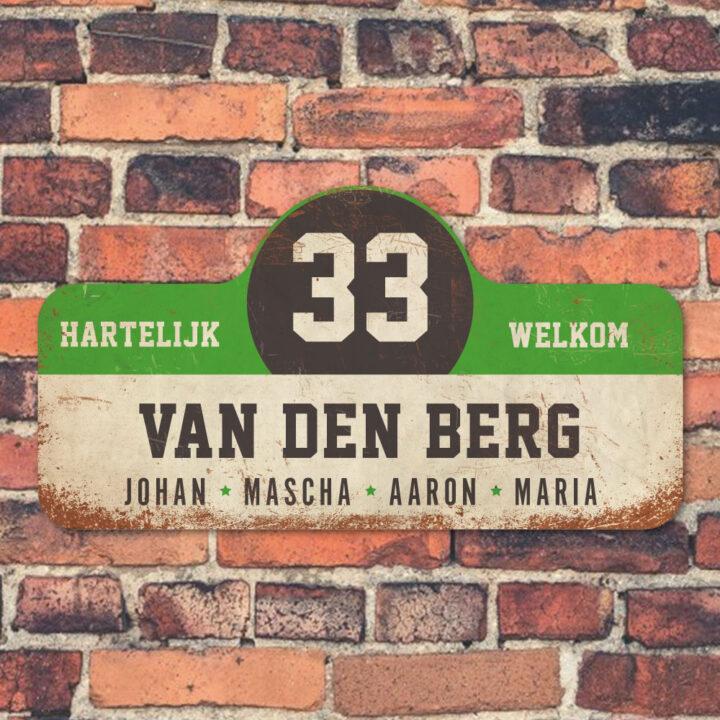 Van-den-Berg-naambord-koenmeloen-wit-groen-zwart-muur rallybord