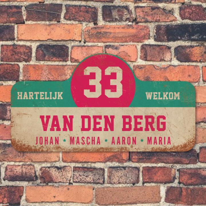 Van-den-Berg-naambord-koenmeloen-wit-mint-roze-muur rallybord
