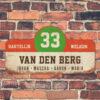 Van-den-Berg-naambord-koenmeloen-wit-rood-groen-bruin-muur rallybord