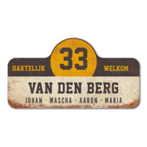 Van-den-Berg-naambord-koenmeloen-wit-zwart-geel rallybord