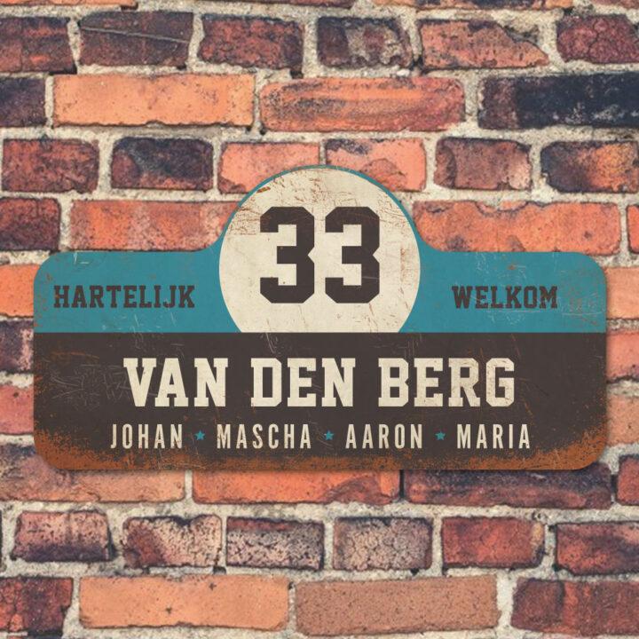 Van-den-Berg-naambord-koenmeloen-zwart-blauw-wit-muur rallybord