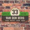 Van-den-Berg-naambord-koenmeloen-zwart-groen-wit-muur rallybord