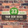 Van-den-Berg-naambord-koenmeloen-zwart-wit-groen-muur rallybord