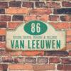 Naambord-Van-leeuwen-voordeur-koenmeloen-wit-mint-muur rallybord