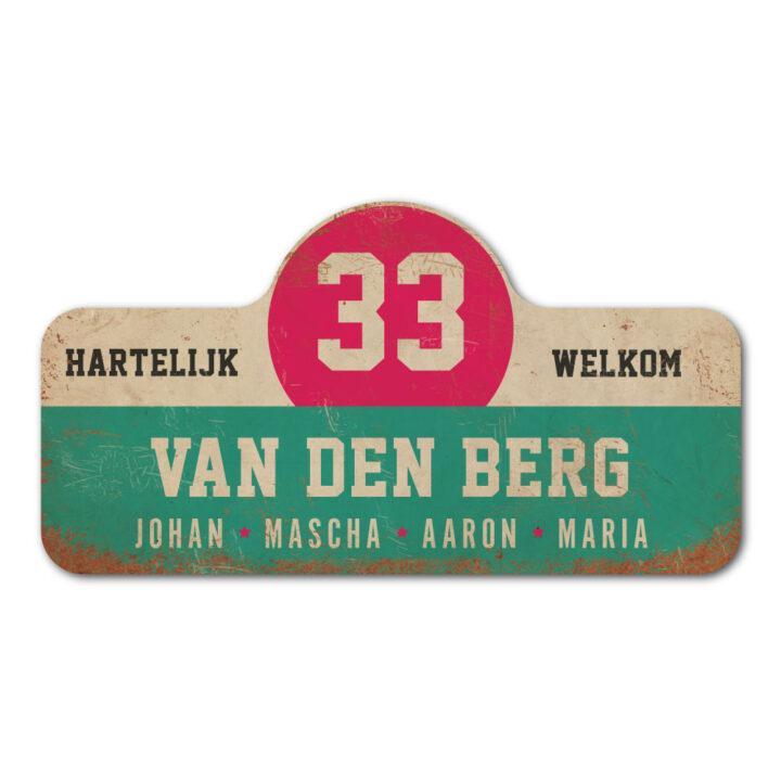 Van-den-Berg-naambord-koenmeloen-mint-wit-roze-zwart rallybord
