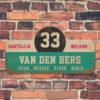 Van-den-Berg-naambord-koenmeloen-mint-wit-zwart-roze-muur rallybord
