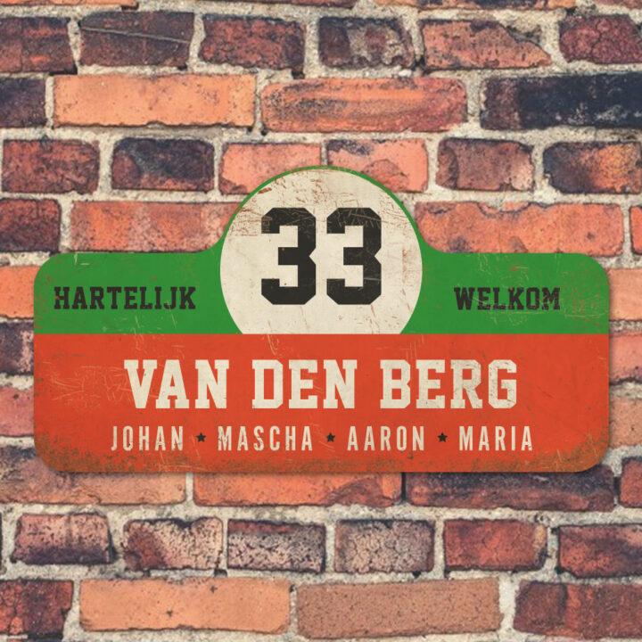Van-den-Berg-naambord-koenmeloen-rood-groen-wit-zwart-muur rallybord