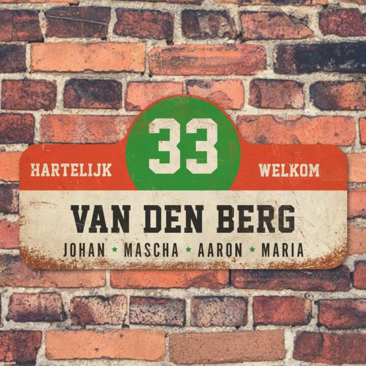 Van-den-Berg-naambord-koenmeloen-wit-rood-groen-zwart-muur rallybord