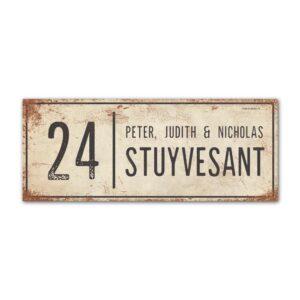 Naambord-Stuyvesant-koenmeloen-vintage-voordeur-wit-antraciet