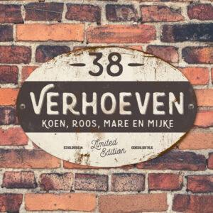 Naambord-Verhoeven-vintage-koenmeloen-voordeur-wit-antraciet