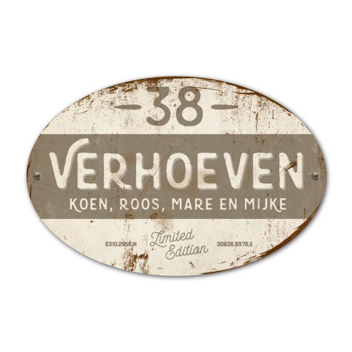 Naambord-Verhoeven-vintage-koenmeloen-voordeur-wit-grijs
