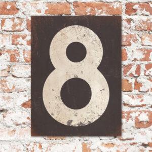 koenmeloen-huisnummer-bord-staand-type-1-antraciet-wit-muur