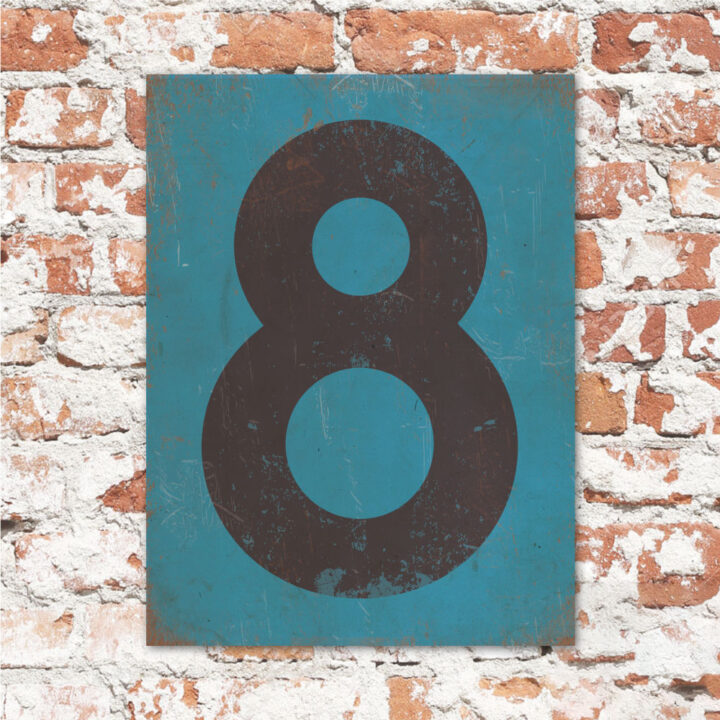 koenmeloen-huisnummer-bord-staand-type-1-petrol blauw-zwart