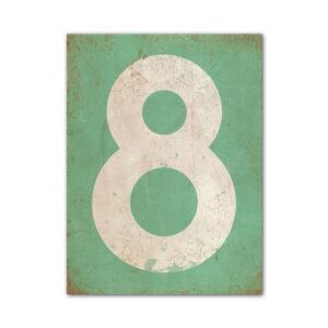 koenmeloen-huisnummer-bord-staand-type-1-mint-groen-wit