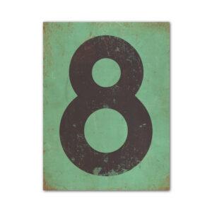 koenmeloen-huisnummer-bord-staand-type-1-mint-groen-zwart