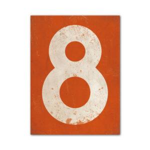 koenmeloen-huisnummer-bord-staand-type-1-oranje-wit