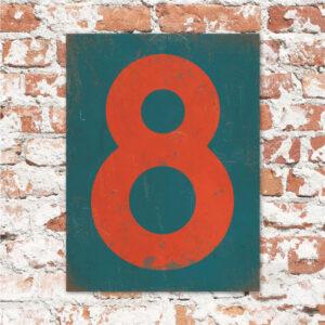 koenmeloen-huisnummer-bord-staand-type-1-petrol-blauw-rood