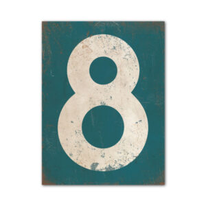 koenmeloen-huisnummer-bord-staand-type-1-petrol-blauw-wit