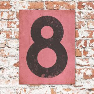 koenmeloen-huisnummer-bord-staand-type-1-roze-zwart