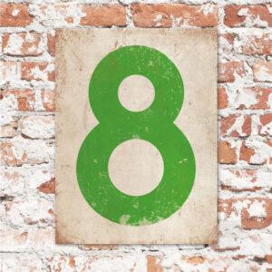 koenmeloen-huisnummer-bord-staand-type-1-wit-appel-groen-muur