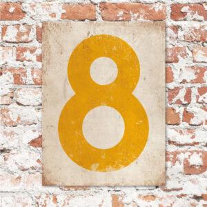 koenmeloen-huisnummer-bord-staand-type-1-geel-wit