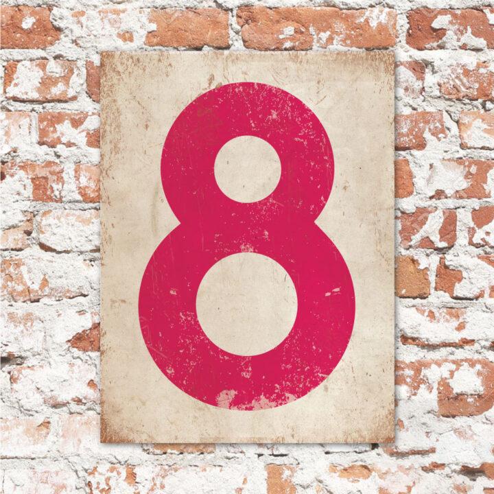 koenmeloen-huisnummer-bord-staand-type-1-knal-roze-wit
