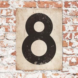koenmeloen-huisnummer-bord-staand-type-1-zwart-wit
