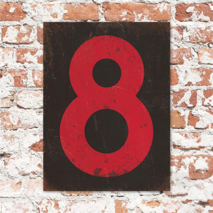 koenmeloen-huisnummer-bord-staand-type-1-rood-zwart