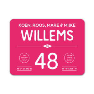 Naambord-Willems-koenmeloen-lnalroze-wit