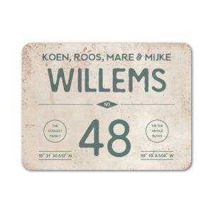 Naambord-Willems-koenmeloen-wit-grijsgroen
