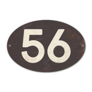 Koenmeloen-Huisnummer-bord-ovaal-antraciet-wit
