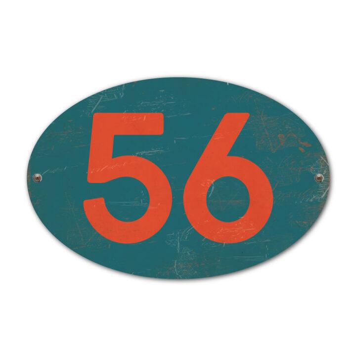 Koenmeloen-Huisnummer-bord-ovaal-blauw-rood
