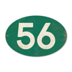 Koenmeloen-Huisnummer-bord-ovaal-donkergroen-wit