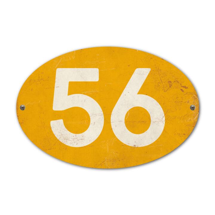 Koenmeloen-Huisnummer-bord-ovaal-geel-wit